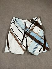 Oneil Board Shorts Mens 33 Blue White Pockets Drawstring Surf Wakeboard