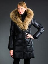 Damen Winterjacke Liora mit echter Fuchs- Fellkapuze, Pelz, echt Fell