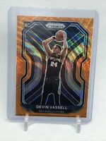 2020-21 Prizm Devin Vassell Orange Wave 13/60 Spurs Rookie 252