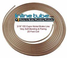 """Copper Nickel Brake Line Tubing Kit 3/16 """" OD 25 Ft Coil Roll NICOPP CN3 TUBE"""