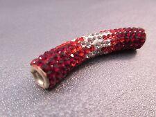 Rhinestone Curve Spacer Beads 1pc