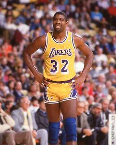 Magic Johnson Color  8x10 LA Lakers Unsigned Photo #1