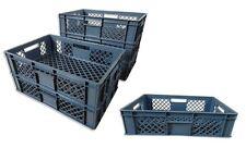 6 x Brotkiste Obst-/ Gemüsebox Lagerkiste Transportbox Gitterbox grau 15cm Höhe