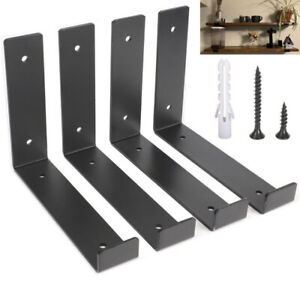 Wall Mounted Shelf Brackets L-Shaped Heavy 4 Pack Duty Floating Storage Support