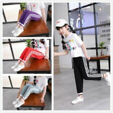 Kids Anti-mosquito Pants Boys Girls Sports Children Pure Color Trousers Casual