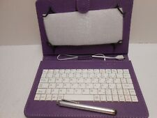 7-inch Tablet Purple Folio Case w/ USB Keyboard - Unbranded