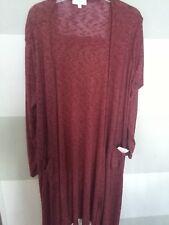 Lularoe Sarah RED BLACK micro stripes SOFT thin sweater Large USA FREE SHIPPING