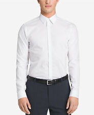NWT $175 CALVIN KLEIN Men SLIM-FIT WHITE LONG-SLEEVE DRESS SHIRT 15-15.5 34/35 M