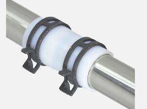PTFE Schlauch / Verbinder / Rohr mit 2 Federbandschellen, Teflon