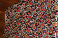 "VINTAGE FRENCH DEADSTOCK 1940'S COLORFUL SILK METALLIC  FABRIC 4 YDS X 40"" W"