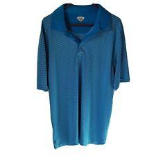 Callaway golf polo Size xxl mens short Sleeve blue white stripes