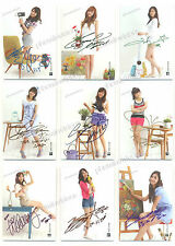 SNSD Star Card Season2.5 Auto Print Complete Set 9 Cards No. GG2.5-001~009