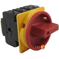 Hauptschalter Reparaturschalter Lasttrennschalter Fronteinbau Drehschalter 80A