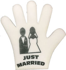 Just Married Foam Hand On Your Wedding Day or Best Man Speach