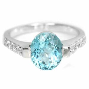 BEAUTIFUL STERLING BLUE TOPAZ SIZE M
