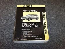 toyota shop manual highlander ebay rh ebay ca toyota highlander repair manual 2001 to 2007 zip 2001 toyota highlander repair manual pdf
