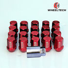 20pcs Red 42mm Aluminum Racing Wheel Lug Nuts M12x1.5 For Toyota Honda Ford