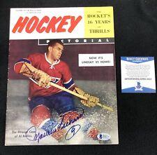 Maurice Richard Signed Hockey Pictorial Magazine Montreal Canadiens Beckett COA