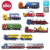 SIKU Miniature Scale 1:87 Diecast Model Trucks Trailers Wagons Toys Age 3+