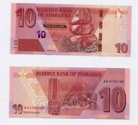 NEW: ZIMBABWE: 10 dollars Banknote,  2020, P-New, Redesigned, UNC condition