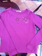 JOLI TEE-SHIRT FILLE MARQUE CLAYEUX TAILLE 10 ANS EN TBE