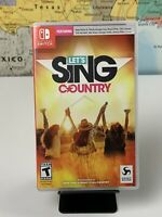 SHIPS SAME DAY Let's Sing Country Nintendo Switch Tested
