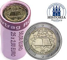 Original 2 Euro Rolle Römische Verträge 2007 Deutschland 25 Münzen mit Mzz J