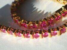 Pink Spinel Bracelet yellow gold over
