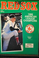 LOT OF 3 1987 1ST EDITION RED SOX PROGRAMS 1 UNSCORED 6/20 NY YANKEES 5/10 ANGEL