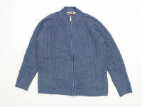 EWM Womens Size 10-12 Textured Blue Cardigan (Regular)