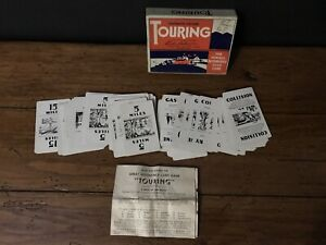 Vintage Parker Brothers Card Game 1947 Touring Famous Automobile W Rules & Box