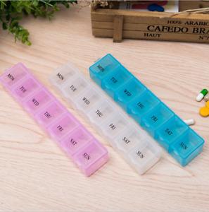 New 7 Day Weekly Storage Pill Drug Medicine Tray Vitamin Tablet Box Organizer