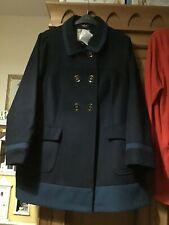 New Look Inspire navy teal smart coat 20