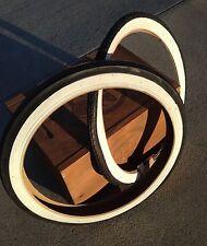 """Schwinn Stingray 20"""" S7 & S2 Slik Whitewall Tires Kenda Duro Deluxe"""