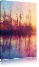 Árboles Espejo Situado en el Agua Foto Lienzo Decoración Pared Impresa Artística