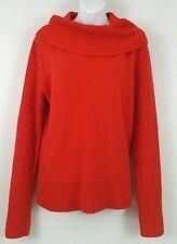 Ralph Lauren Orange Turtleneck Sweater Long Sleeve Wool Viscose Blend NWOT-XL