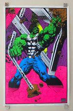 1996 Marvel Comics Hulk 35 x 23 blacklight poster 1: 1990's Marvelmania/Avengers