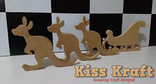 Christmas Kangaroo and Sleigh Set - Freestanding Wooden MDF Xmas decoration