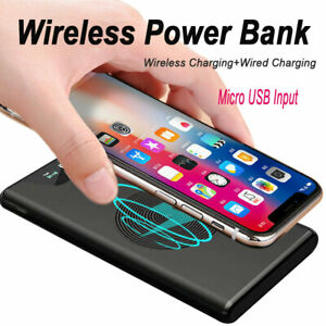 Wireless Power Bank 1000000mAh 2USB External Battery Pack Fast Charging Charger