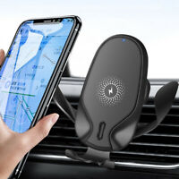 10W Qi Wireless Car Charger Dock Bracket For iPhone 11 8 XS Samsung Note 10 9 8