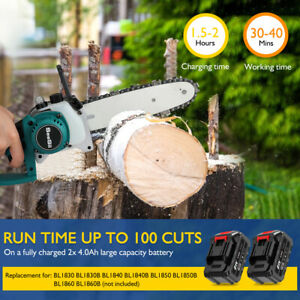 21v 8inch Mini Pruning Saw Chainsaw with Cutting Branch Wood Replacement Chain