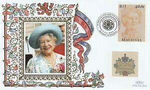 MALDIVES 2007 QUEEN MOTHER 5th ANNIVERSARY OF HER DEATH BENHAM COVER b