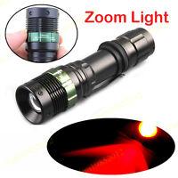 3 Watt Night Patrol Hunting 625nm Red Zoom Light LED Torch Light Flashlight