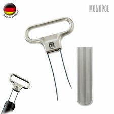 Monopol Germany Stainless Steel Two-Prong Cork Puller with Cover (Silver Satin)