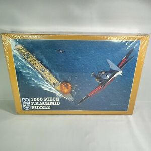 """New 1000 pc Schmid Puzzle 26.5"""" X 17.25"""" - Midway: Turning Point - New Sealed"""