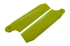 KBDD Neon Yellow 104mm Extreme Tail Rotor Blades -Trex 700 Goblin 630 #4080