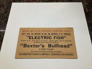 BAXTER CIGAR COMPANY DENVER, COLORADO ADVERTISING ENVELOPE