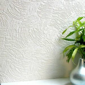 Anaglypta Surf White Textured Paintable Wallpaper Thick Vinyl Embossed RD5019