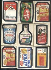 1974 Topps Wacky Packages Series 5, 36 cards