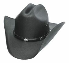Classic Cattleman Straw Cowboy Hat with Silver Conchos Black